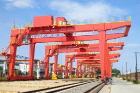RMG Crane for Steel Track Handling