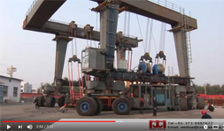 Test of Rubber Tire Crane for Boat and Yacht Handling
