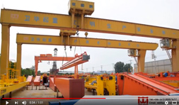 2 Gantry Cranes Working Synchronously