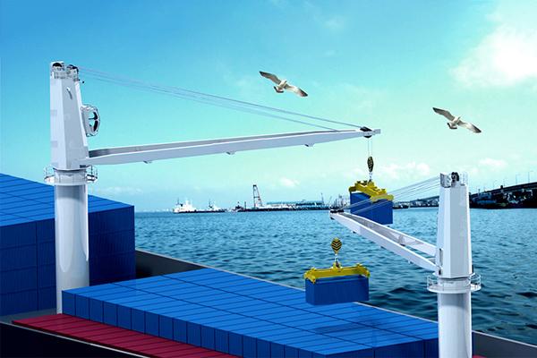 deck-crane-on-ship