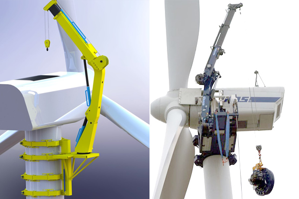 pole-climbing-crane-wind-turbine-maintenance