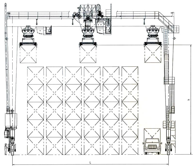 rtg-crane-drawing