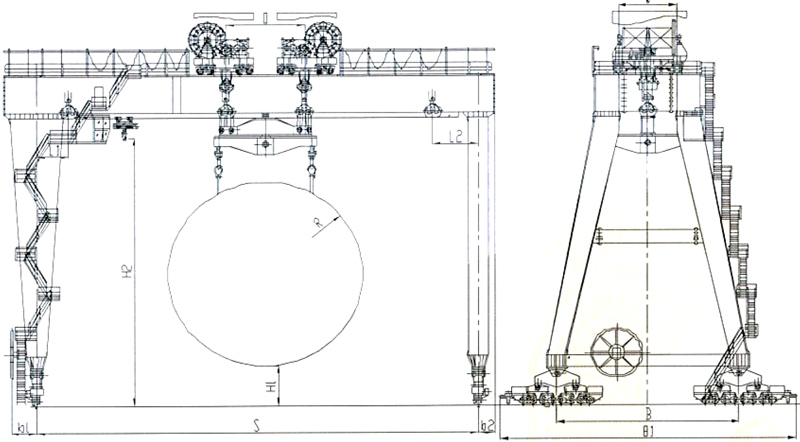 tunnel-machine-crane-drawing