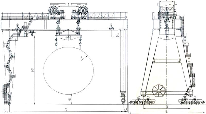 tunnel-machine-crane-drawing