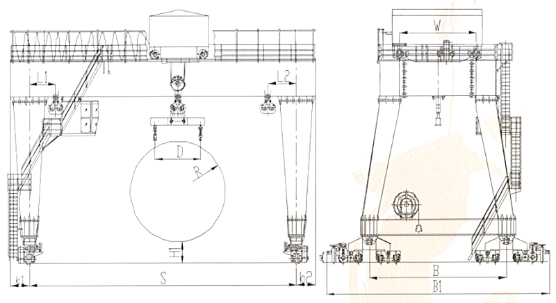 tunnel-machine-gantry-crane-drawing