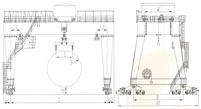 tunnel-machine-gantry-crane-drawing
